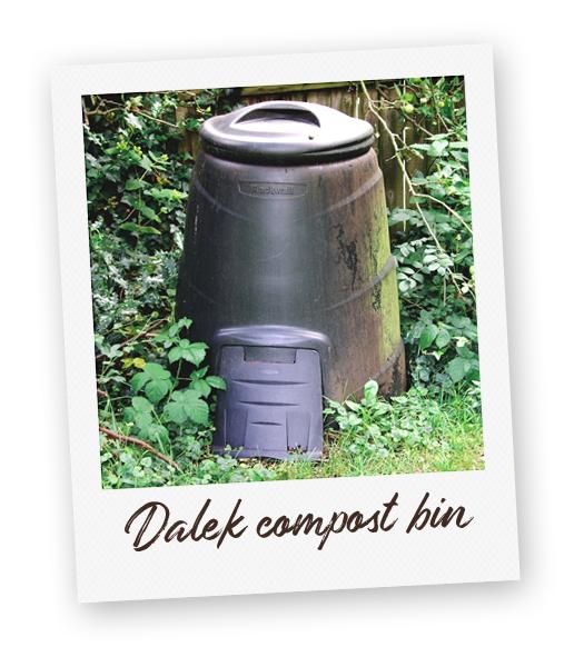 Dalek style composting bin.