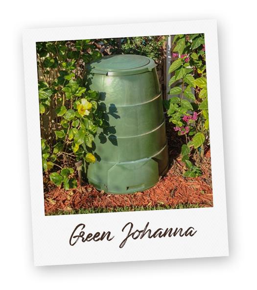 """""""Green Johanna"""" composting bin."""