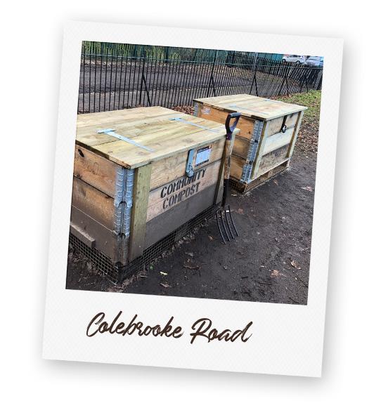 Composting Station at Colebrook Road.